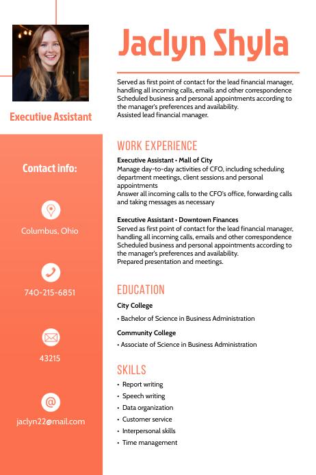 Modern Professional CV Resume Template Plakat