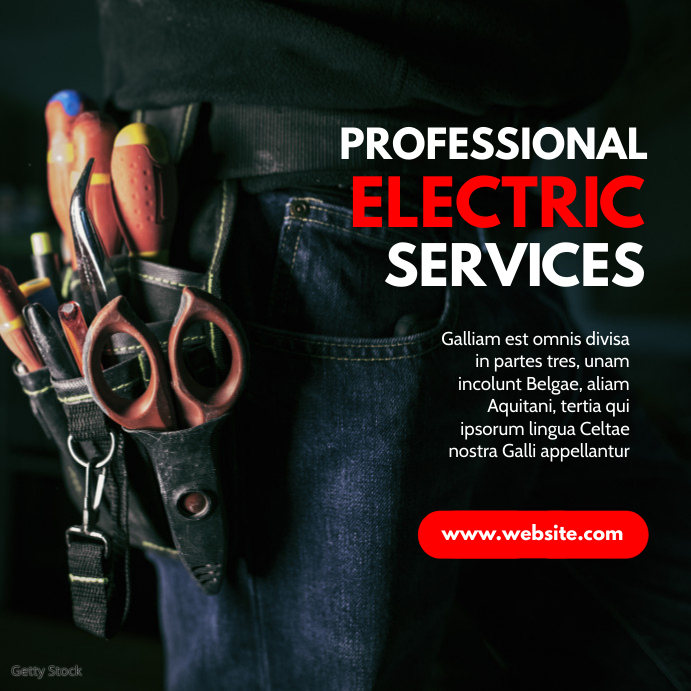 modern professional electric services adverti Pos Instagram template