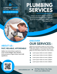 modern professional plumbing services flyer a template
