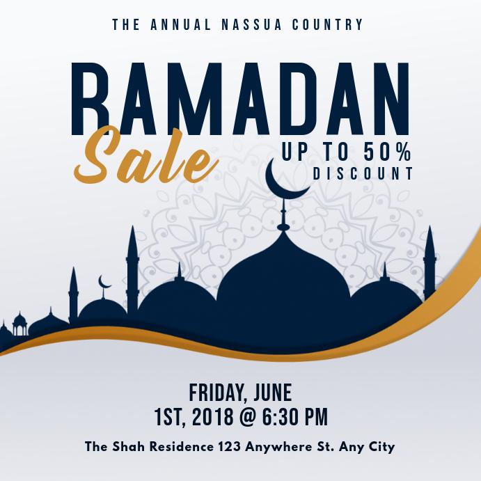 Modern Ramadan Sale Online Ad Message Instagram template