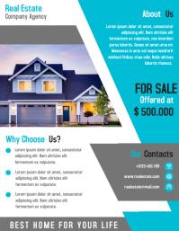 Modern Real Estate Business Marketing Flyer Design Template