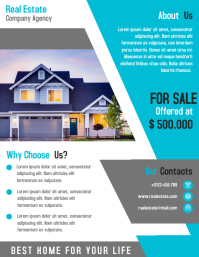 Modern Real Estate Business Marketing Flyer Design Template