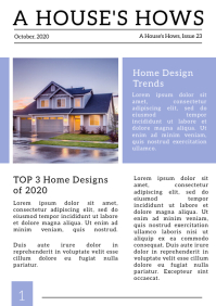 Modern Real Estate Newspaper Layout A4 template