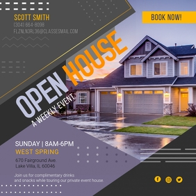 Modern Real Estate Open House Instagram Ad template
