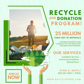 Modern Recycling Drive Advertisement Video