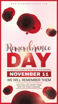Modern Remembrance Day Digital Display Ad Template