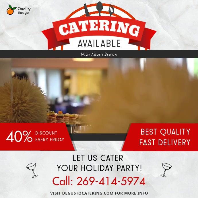 Modern Restaurant Catering Service Instagram Instagram-bericht template