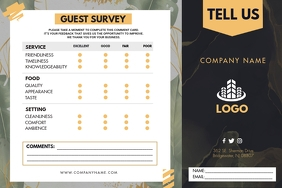 Modern Restaurant Service Comment Card Label template