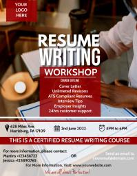Modern Resume Writing Workshop Flyer