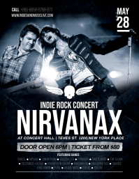 Modern Rock Gig Flyer template