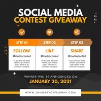 Modern Rustic Social Media Giveaway Contest I โพสต์บน Instagram template