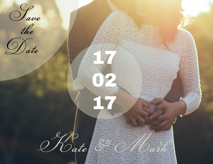 Modern Save the Date Card Template