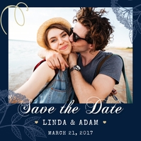 Modern Save the Date Instagram Post template