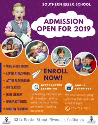 Modern School Admission Poster