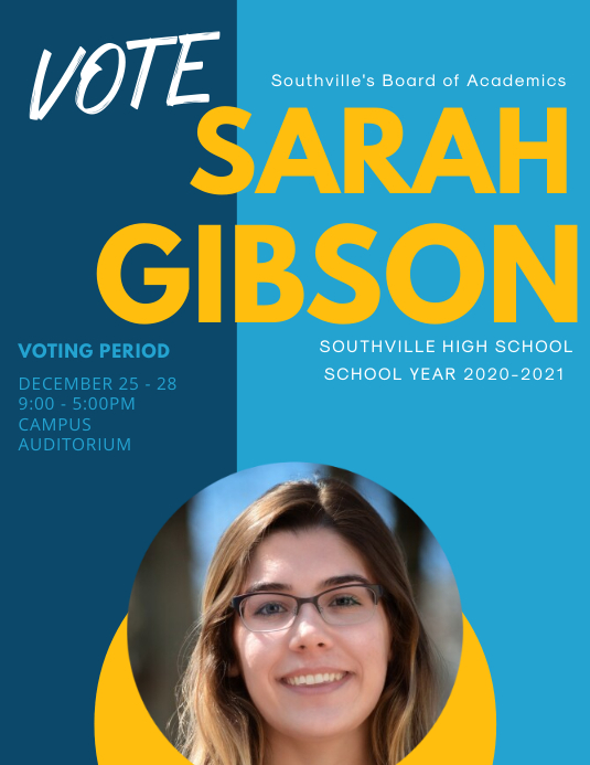 Modern School Election Poster Template