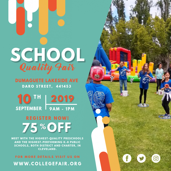 Modern School Summer Fair Online Invite