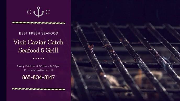 Modern Seafood and Exotic Cuisine Digital Display