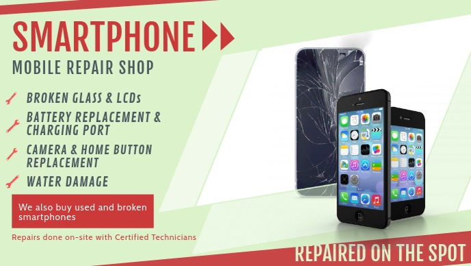 Modern Smart Phone and Electronics Repair Facebook Cover Vid