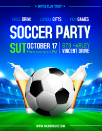 Modern Soccer Sports Bar Screening Flyer template