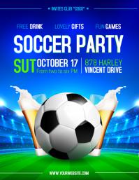Modern Soccer Sports Bar Screening Flyer