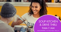 Modern Soup Kitchen Pantry Drive Thru Cover ng Facebook Event template