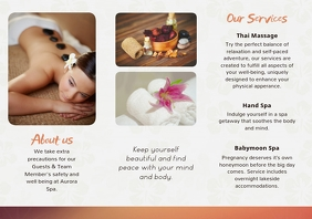 Modern Spa Beauty Parlor Brochure Back