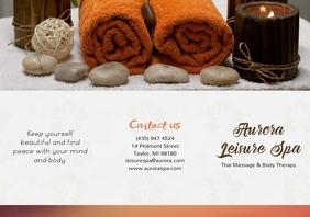 Modern Spa Beauty Parlor Brochure Front
