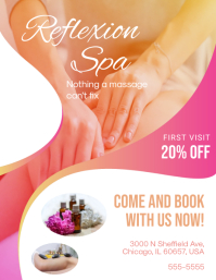 Modern Spa Discount Offer Flyer Template
