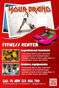 Modern SPA & fitness salon flyers