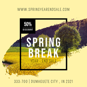 Modern Spring Break Party Invitation