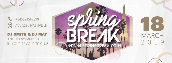 Modern Spring Party Poster/Banner Design
