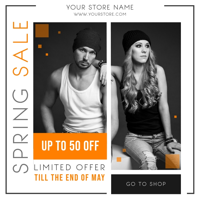 Modern Spring Sale Instagram post Instagram-opslag template