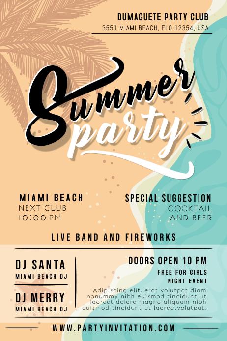 Modern Summer Party Flyer