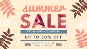 Modern Summer Sale Facebook Cover Banner