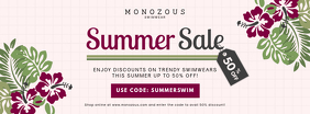 Modern Summer Sale in Store Banner