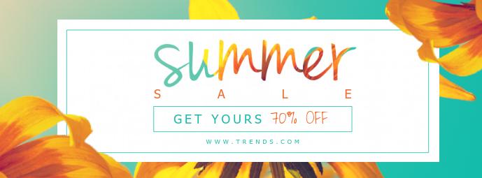 Modern Summer Sale Store Banner Facebook-coverfoto template