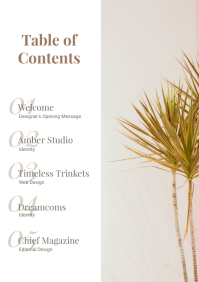 Modern Table of Contents A4 template