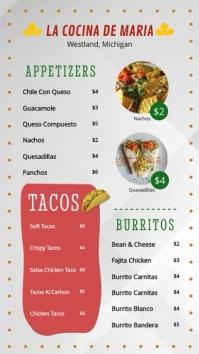 Modern Taco Restaurant Cinco de Mayo Menu Display