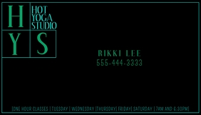 Modern Teal alphabetical Business Card