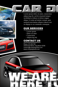 Modern template flyer for cars dealership business Poster