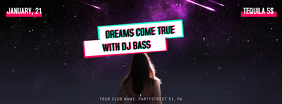 Modern Template for Facebook Banner. Party, Club, Electro