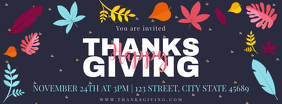 Modern Thanksgiving Dinner Invitation Facebook Cover