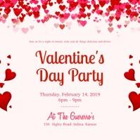 16290 Valentines Day Invitation Customizable Design Templates