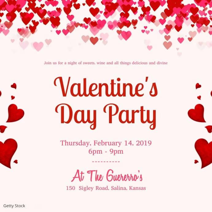 Modern Valentine's Day Party Invitation