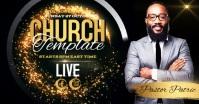 modern video church design template Facebook Gedeelde Prent