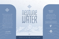Modern Water Bottle Label Etykieta template