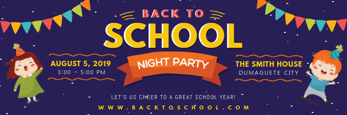 Modern Welcome back to school banner with ill