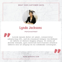 Modern What Our Customers Say Testimonial Ins Instagram Post template