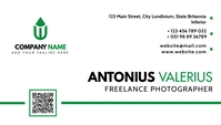 modern white and green corporate business car template