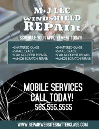 Modern Windshield Glass Repair Flyer template